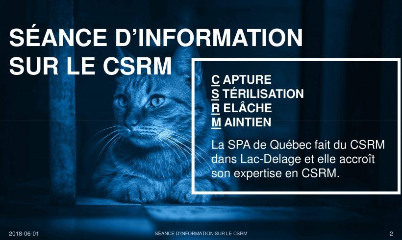 Séance publique d'information sur les programmes de CSRM